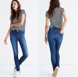 """Madewell 9"""" High Rise Skinny Stretch Jeans"""